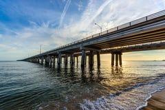 切塞皮克湾桥梁 免版税库存图片