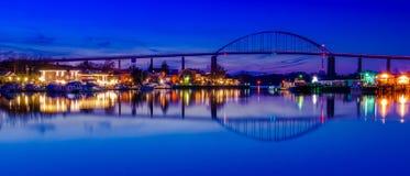 切塞皮克犬城市的反射切塞皮克犬和特拉华运河的,马里兰 免版税库存照片