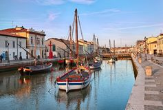 切塞纳蒂科,伊米莉亚罗马甘,意大利:在的历史的帆船 免版税图库摄影
