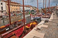 切塞纳蒂科,伊米莉亚罗马甘,意大利:在的历史的帆船 免版税库存图片