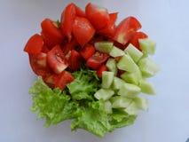 切好的新鲜蔬菜 免版税库存图片