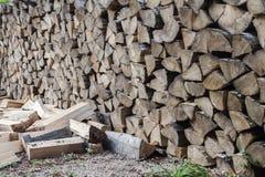 切好的木头 免版税库存照片
