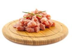 切好的猪肉 库存图片