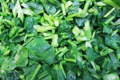 切好的绿色蔬菜 免版税库存照片
