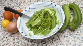 切好的蔬菜 图库摄影