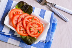 切好的蕃茄开胃菜  库存照片