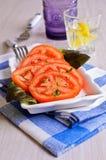切好的蕃茄开胃菜  库存图片