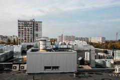切尔卡瑟,乌克兰- 2014年10月16日:在舍甫琴科大道, 200的居民住房 免版税库存图片
