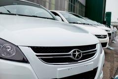 切尔卡瑟,乌克兰- 2013年6月17日:新的中国汽车品牌 库存图片