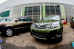 切尔卡瑟,乌克兰- 2013年6月17日:新的中国汽车品牌 免版税图库摄影