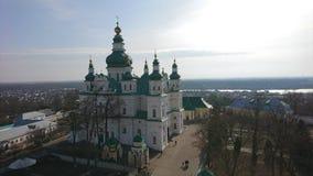 切尔尼戈夫 钟楼在三位一体修道院里 库存照片