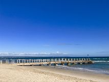 切尔西码头,墨尔本,维多利亚,澳大利亚 图库摄影