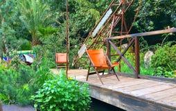 切尔西花展的一个工匠展示庭院 图库摄影