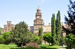 切尔诺夫策乌克兰- 2018年5月04日:前温床教会 免版税库存照片