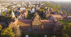 切尔诺夫策大学鸟瞰图4k的res - 其中一所最旧的大学 股票录像