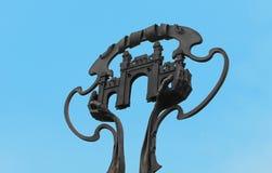切尔诺夫策市的标志圣徒玛丽亚广场的,乌克兰 免版税库存照片