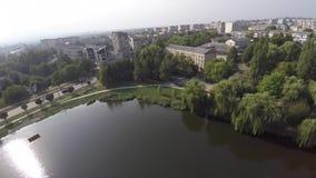 切尔诺夫策,乌克兰公园10月在切尔诺夫策 湖在公园 图库摄影