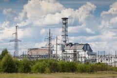 切尔诺贝利工厂次幂 免版税库存照片