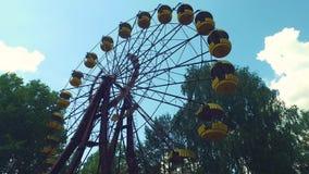切尔诺贝利Pripyat弗累斯大转轮游乐场 股票视频