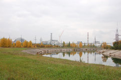 切尔诺贝利核电站,反应器4 免版税库存图片