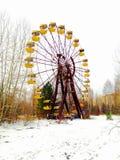 切尔诺贝利游览,游乐园,冬天2013年 库存图片