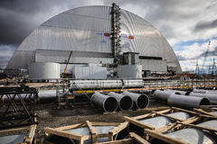 切尔诺贝利灾害基辅内存纪念碑核工厂次幂区域乌克兰 免版税库存照片