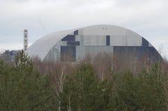 切尔诺贝利,乌克兰- 2015年12月14日:切尔诺贝利核电站 免版税库存图片