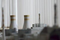 切尔诺贝利,乌克兰- 2015年12月14日:切尔诺贝利核电站 免版税库存照片