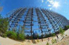 切尔诺贝利2 Duga雷达 俄国啄木鸟 免版税库存图片