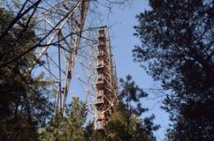 切尔诺贝利2 Duga雷达 俄国啄木鸟 库存图片