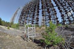 切尔诺贝利2 Duga雷达 俄国啄木鸟 免版税库存照片