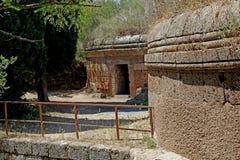 切尔韦泰里Etruscan大墓地  免版税库存照片