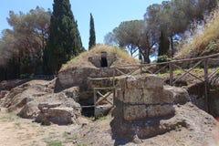 切尔韦泰里Etruscan大墓地  免版税图库摄影
