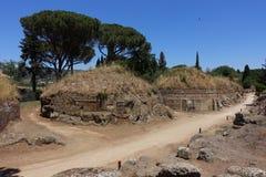 切尔韦泰里Etruscan大墓地  免版税库存图片