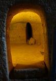 切尔韦泰里Etruscan大墓地  库存照片