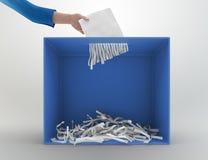 切废纸机投票箱 免版税库存照片