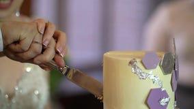 切开庆祝蛋糕 股票录像