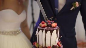 切开庆祝蛋糕 影视素材