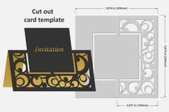 切开的模板卡片 轻便短大衣 祝贺的,邀请,介绍,婚礼用途 库存照片