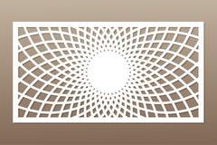 切开的模板 坛场,蔓藤花纹样式 激光裁减 汇率 向量例证