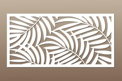 切开的装饰卡片 棕榈叶样式 激光裁减 皇族释放例证