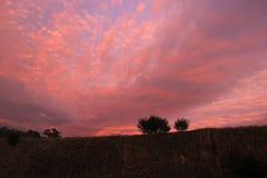 切开维多利亚澳大利亚的五颜六色的多云日出阴间 免版税库存照片