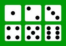 切成小方块,模子象,赌博娱乐场,赢取,胜利 平的设计,传染媒介 免版税库存照片