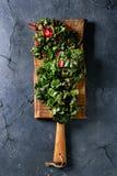 切新鲜的唐莴苣沙拉 库存图片