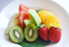 切新鲜水果 图库摄影
