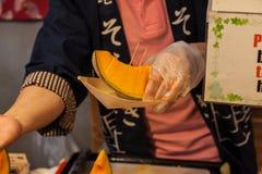 切日本瓜 免版税库存图片