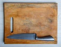 切板和刀子 免版税库存图片
