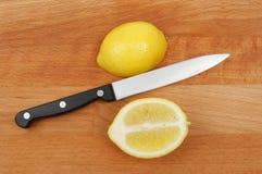 切柠檬 免版税库存照片
