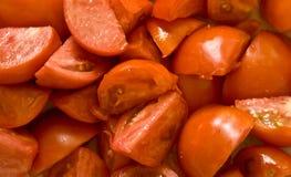 切查出的蕃茄 免版税库存照片