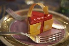 切片乳酪蛋糕 免版税库存照片